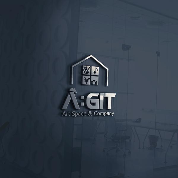 로고 + 간판   A:GIT (Art &...   라우드소싱 포트폴리오
