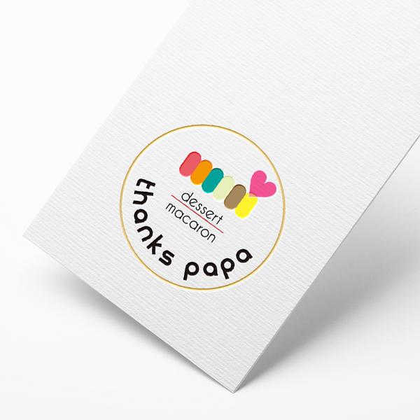 로고 디자인 | thanks papa(땡스파파) | 라우드소싱 포트폴리오