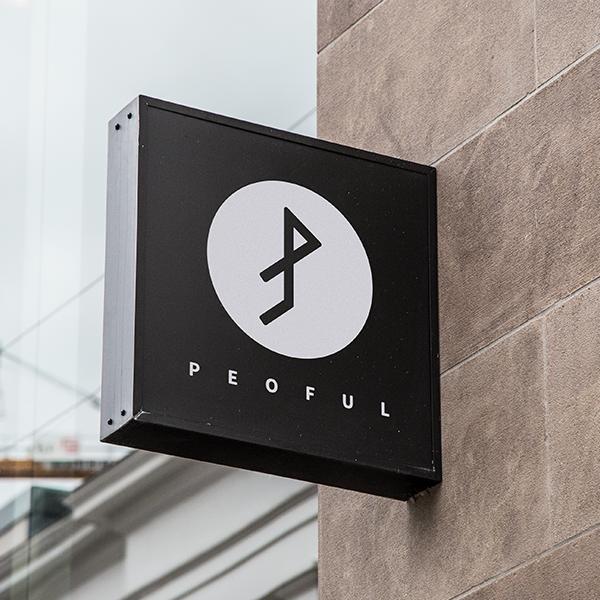 로고 + 간판   PEOFUL 피플   라우드소싱 포트폴리오