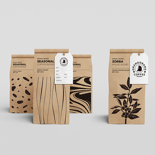 패키지 디자인 | 오랑오랑 커피 원두 봉투... | 라우드소싱 포트폴리오