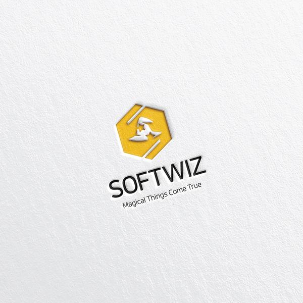 로고 디자인   주식회사 소프트위즈   라우드소싱 포트폴리오