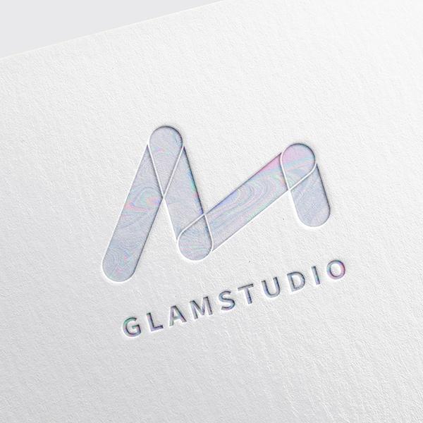 로고 + 명함   글램스튜디오   라우드소싱 포트폴리오