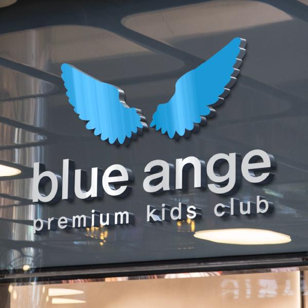 로고 + 간판 | 블루 앙쥬 키즈클럽 | 라우드소싱 포트폴리오