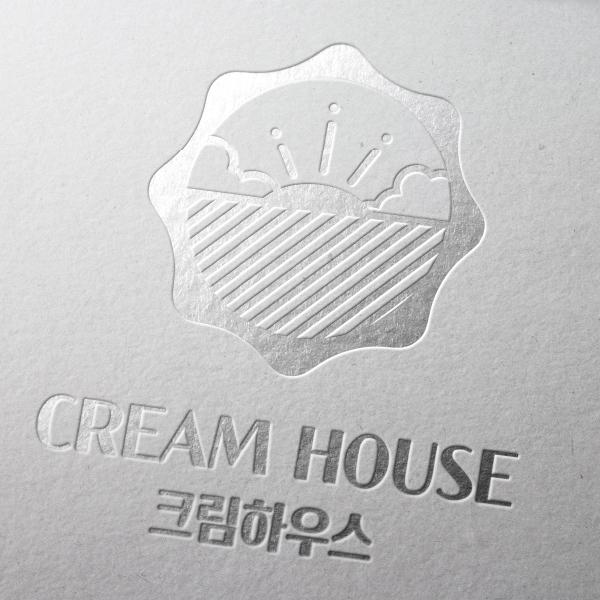 로고 + 간판   CREAM HOUSE   라우드소싱 포트폴리오