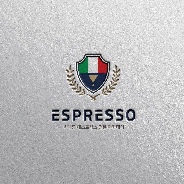 로고 + 명함 | 카페 및 커피아카데미 로... | 라우드소싱 포트폴리오