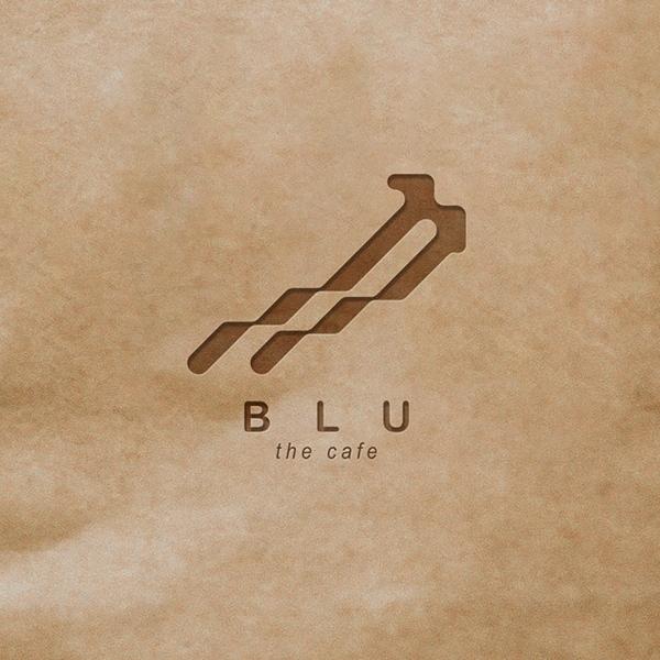로고 디자인   BLU the cafe ...   라우드소싱 포트폴리오