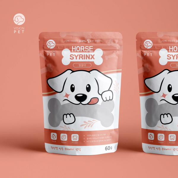 패키지 디자인 | 애견간식 봉투 디자인 의뢰 | 라우드소싱 포트폴리오
