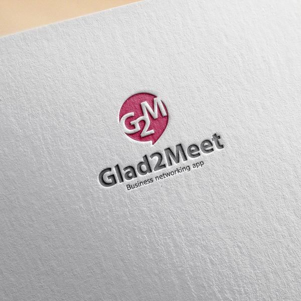 로고 디자인 | Glad2meet | 라우드소싱 포트폴리오