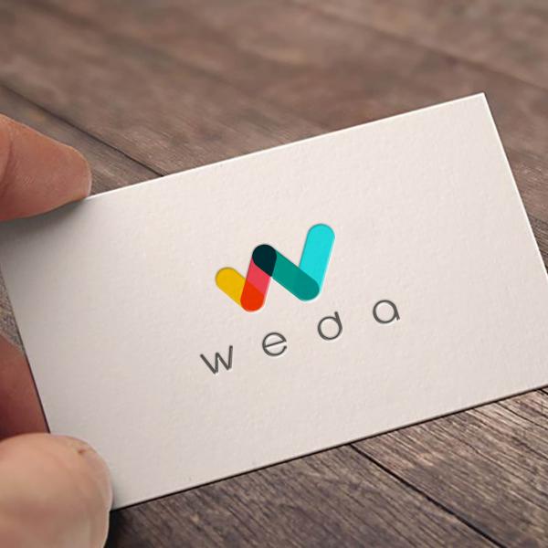 로고 + 명함   WEDA    라우드소싱 포트폴리오