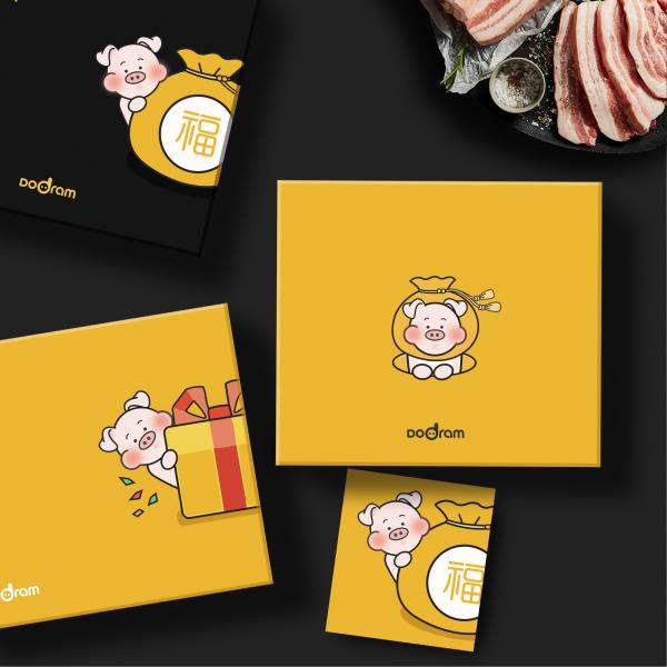 패키지 디자인 | 도드람한돈 카카오 선물하... | 라우드소싱 포트폴리오