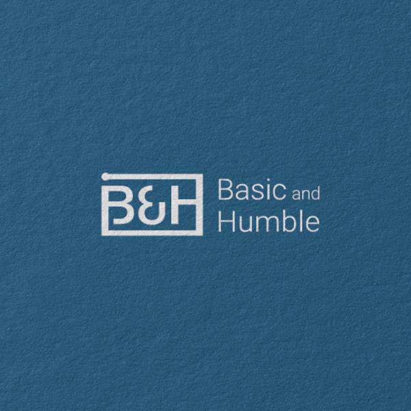 로고 + 명함   B&H 비엔에이치   라우드소싱 포트폴리오