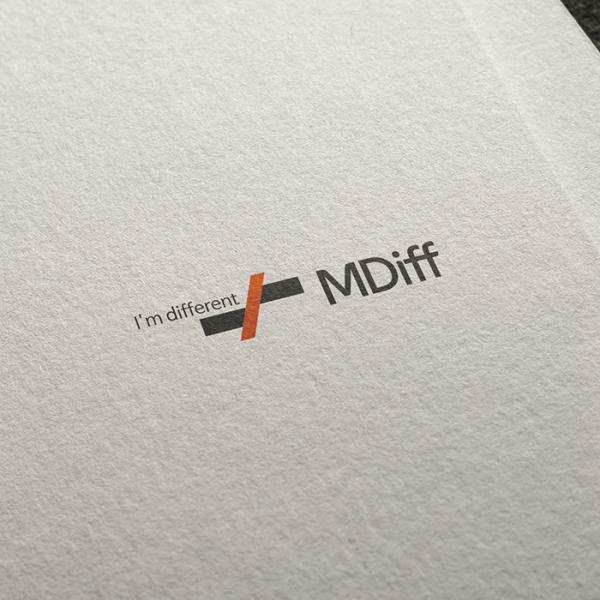 로고 + 명함 | MDiff 회사 로고 및... | 라우드소싱 포트폴리오