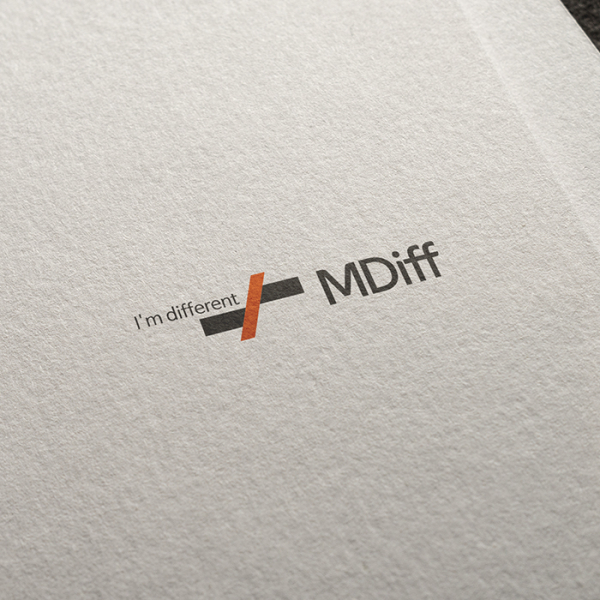 로고 + 명함   MDiff(엠디프)   라우드소싱 포트폴리오