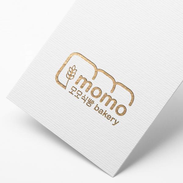 로고 + 간판 | 모모식빵 | 라우드소싱 포트폴리오