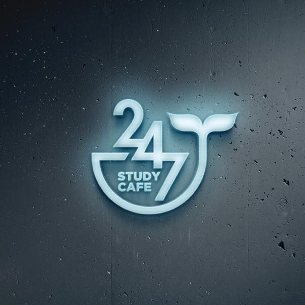 로고 디자인 | 스터디카페 247 로고 ... | 라우드소싱 포트폴리오