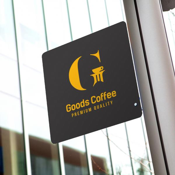 로고 + 간판 | 구쯔커피 goods coffee | 라우드소싱 포트폴리오