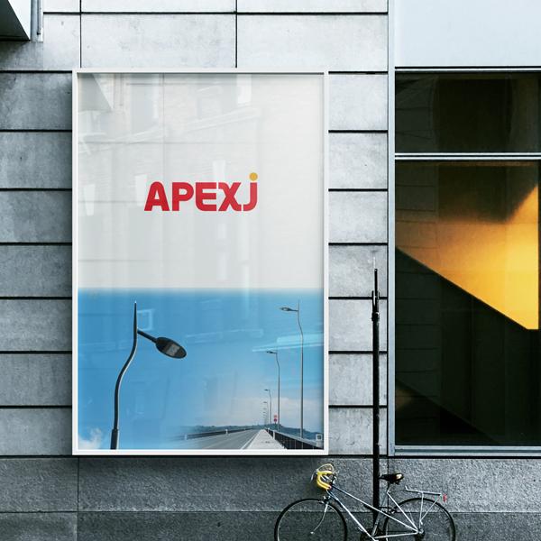 로고 + 명함 | (주)에이펙스제이 / APEXJ | 라우드소싱 포트폴리오