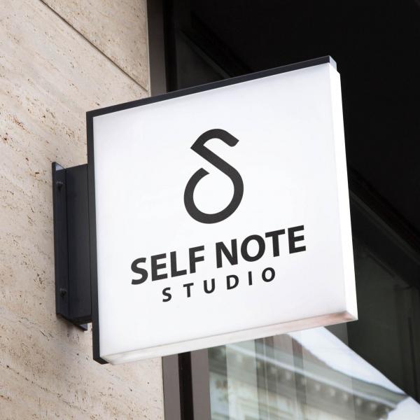 로고 + 간판 | 셀프노트 녹음실 | 라우드소싱 포트폴리오