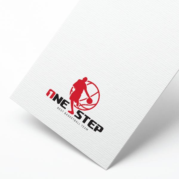 로고 + 명함 | 원스텝 농구팀 로고 디자... | 라우드소싱 포트폴리오