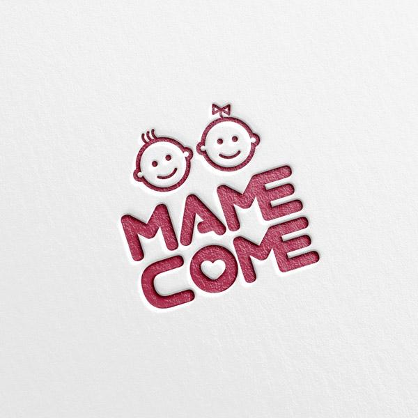 로고 + 간판 | 유아용품 MAMECOME... | 라우드소싱 포트폴리오