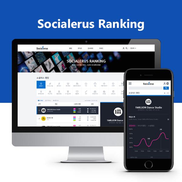 웹사이트 | 유튜버 랭킹/상세 페이지... | 라우드소싱 포트폴리오