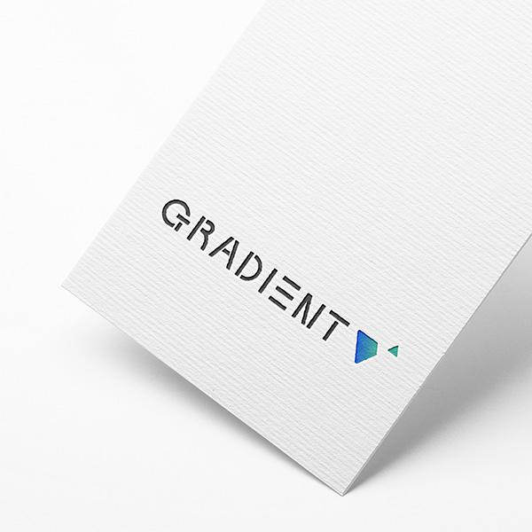 로고 + 명함   GRADIENT   라우드소싱 포트폴리오