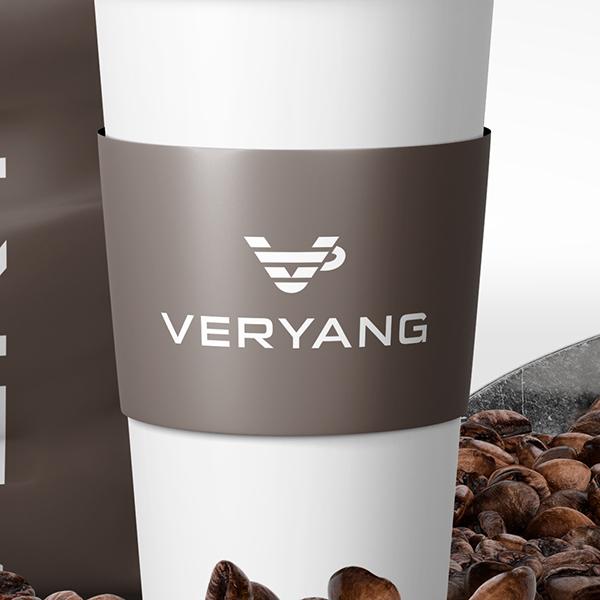 로고 + 간판 | veryang 카페 로고... | 라우드소싱 포트폴리오