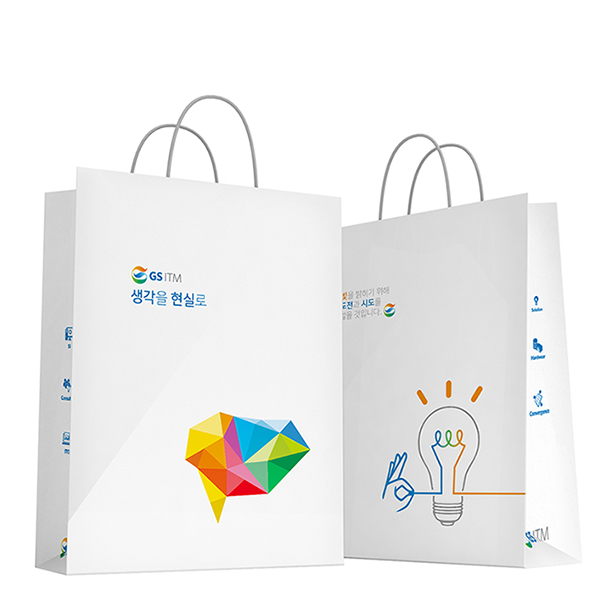 패키지 디자인 | GS ITM쇼핑백 디자인 2종 | 라우드소싱 포트폴리오