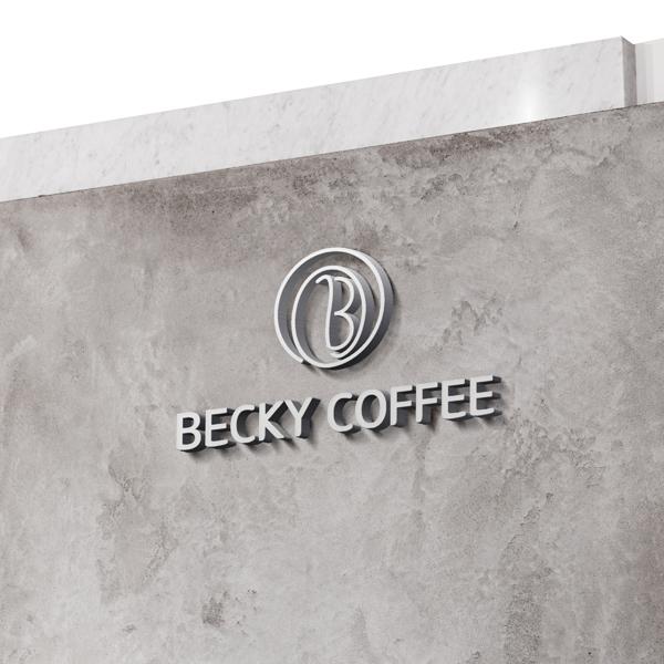 로고 + 명함    BECKY COFFEE   라우드소싱 포트폴리오