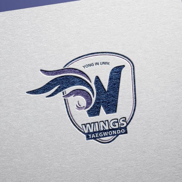 로고 디자인   용인대 윙스(WINGS) 태권도   라우드소싱 포트폴리오