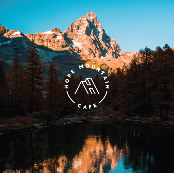 로고 + 간판   Hope Mountain Cafe   라우드소싱 포트폴리오