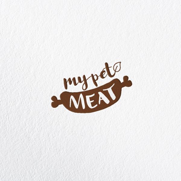 로고 + 간판   MY PET MEAT   라우드소싱 포트폴리오