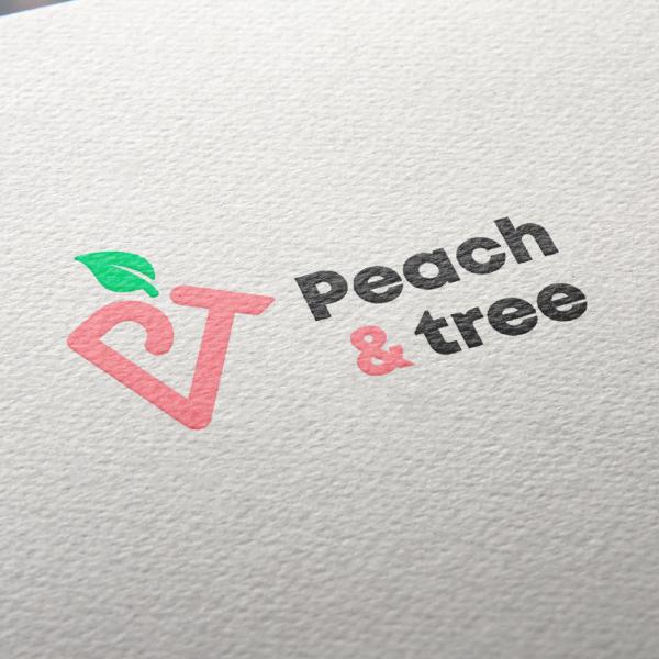 로고 디자인   Peach & tree   라우드소싱 포트폴리오