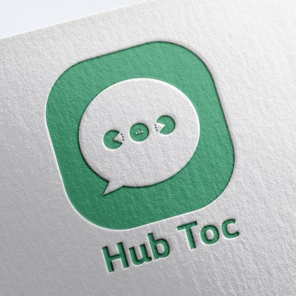로고 디자인 | 허브톡 로고를 제작하고자... | 라우드소싱 포트폴리오