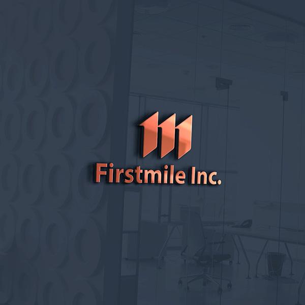 로고 + 명함   퍼스트마일 주식회사   라우드소싱 포트폴리오