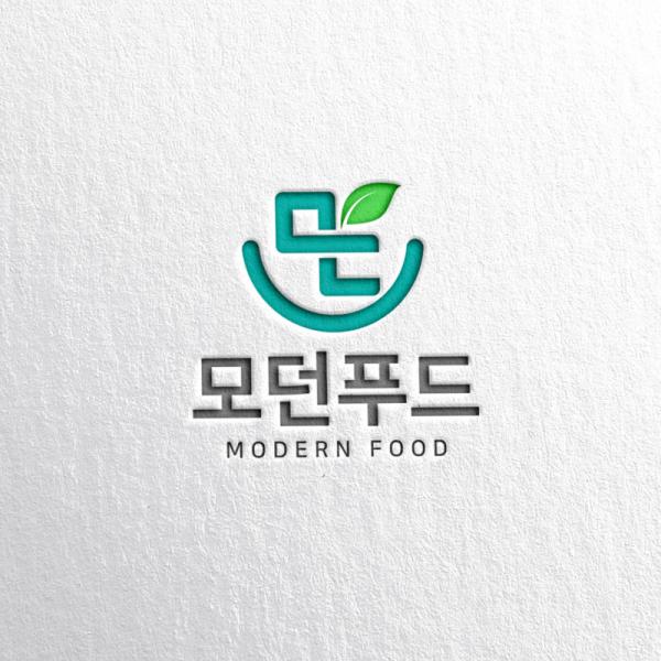 로고 + 명함 | 주식회사 모던푸드 로고 ... | 라우드소싱 포트폴리오