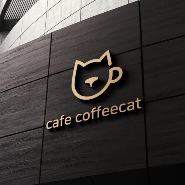 로고 + 간판 | 카페 커피캣 | 라우드소싱 포트폴리오