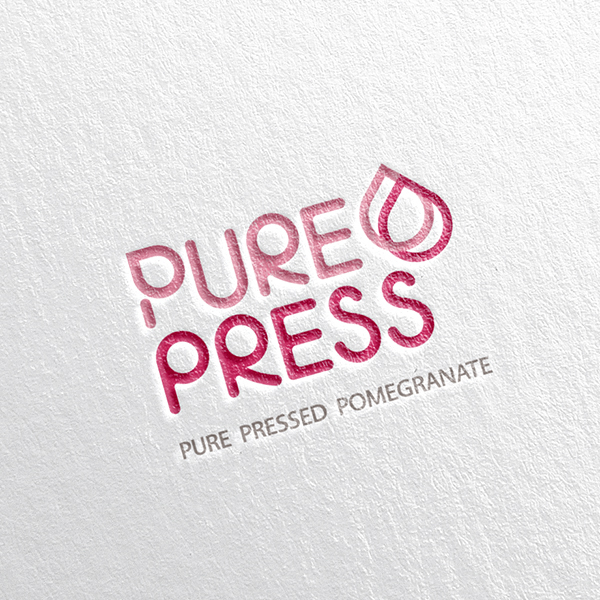 로고 디자인 | 퓨어프레스 석류 착즙 로... | 라우드소싱 포트폴리오