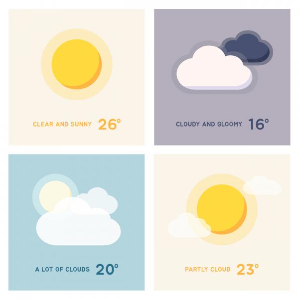 일러스트 | 날씨 아이콘 디자인 의뢰 | 라우드소싱 포트폴리오