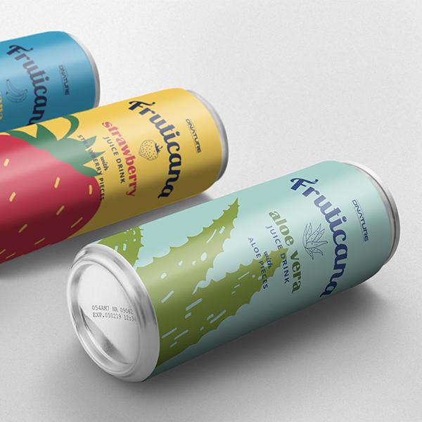 패키지 디자인 | 과일음료브랜드 'FR... | 라우드소싱 포트폴리오