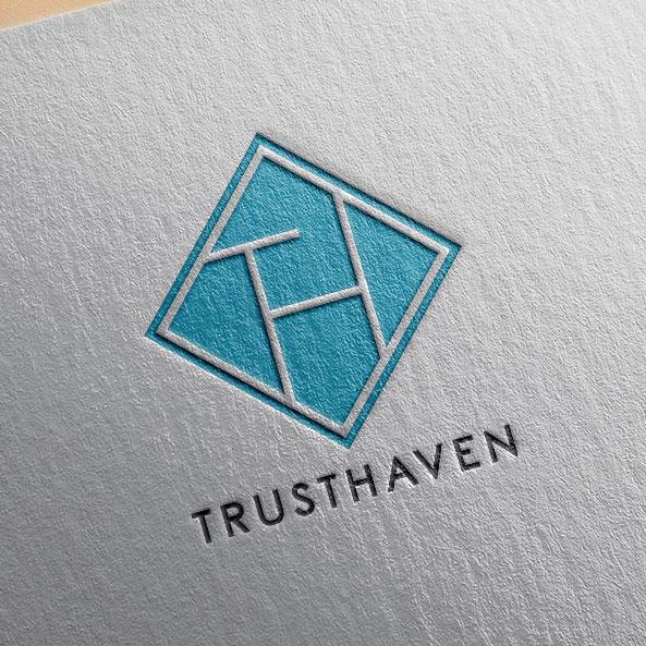 로고 + 명함 | TRUSTHAVEN 로고... | 라우드소싱 포트폴리오