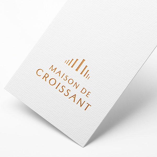 로고 + 간판 | 크루아상전문점 로고디자인 의뢰 | 라우드소싱 포트폴리오
