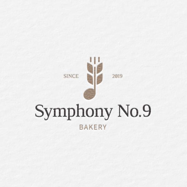 로고 디자인   Symphony No.9  베이커리   라우드소싱 포트폴리오