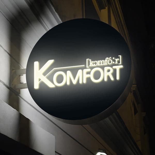 로고 디자인 | 카페 컴포어(komfor... | 라우드소싱 포트폴리오