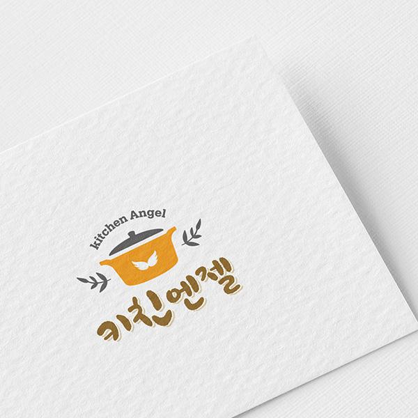 로고 디자인 | 키친엔젤로고디자인 | 라우드소싱 포트폴리오