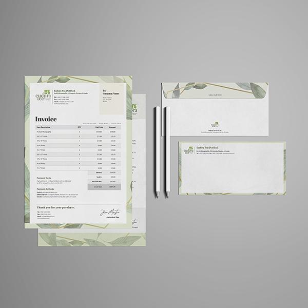 명함 / 봉투 | EUDORA TEA 서식... | 라우드소싱 포트폴리오