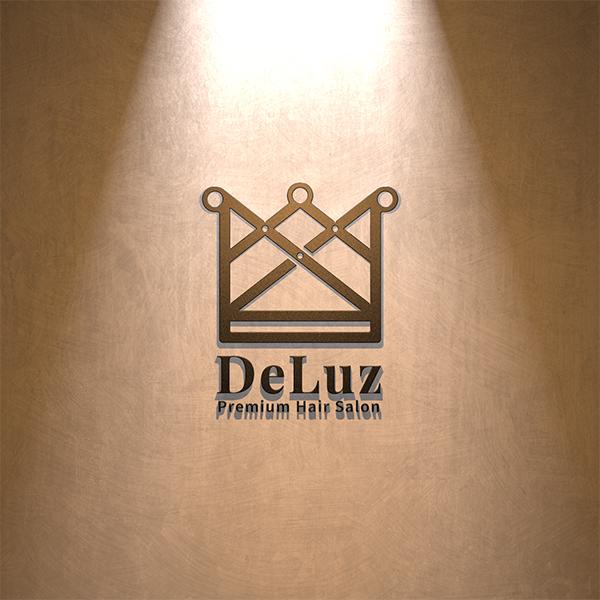 로고 + 간판 | De Luz (델루즈) 헤어  | 라우드소싱 포트폴리오