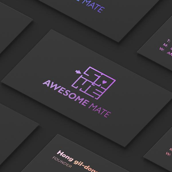 로고 + 명함 | 어썸메이트 로고 디자인 의뢰 | 라우드소싱 포트폴리오