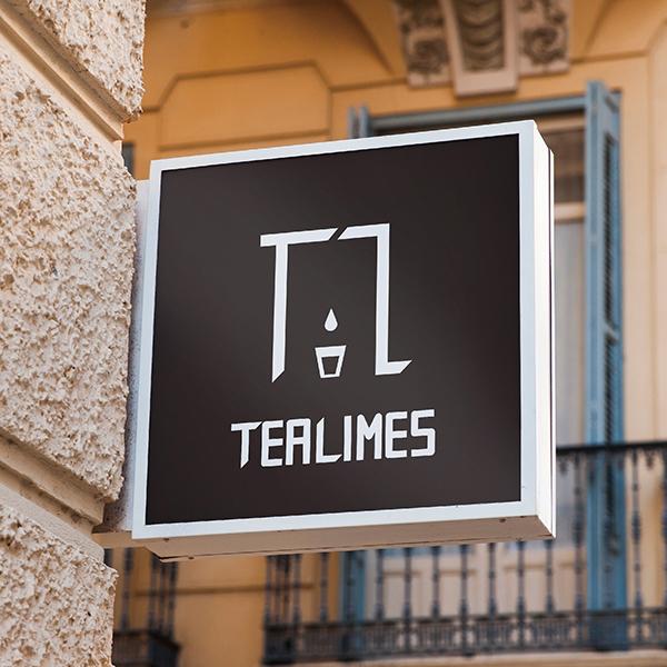로고 + 간판 | 카페 Tealimes 로... | 라우드소싱 포트폴리오