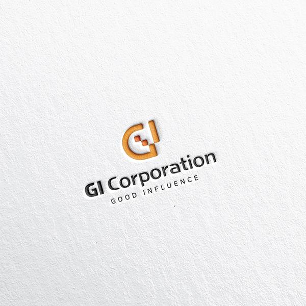 로고 + 명함 | 지아이코퍼레이션 로고 디... | 라우드소싱 포트폴리오